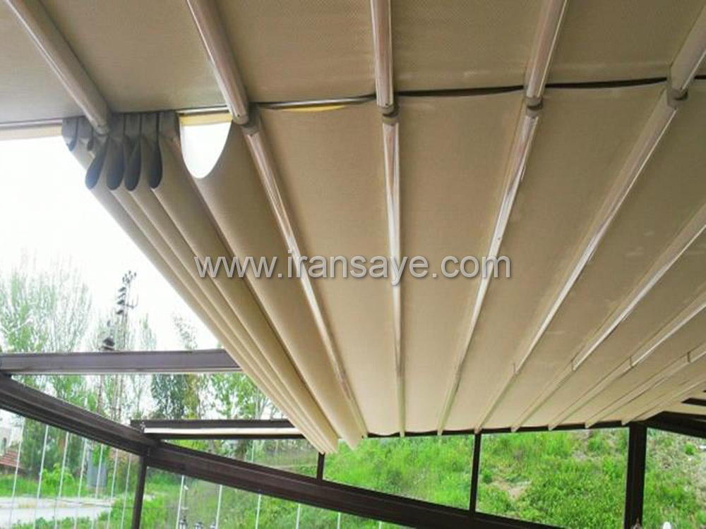 سقف متحرک اجرا شده برای محوطه ویلا