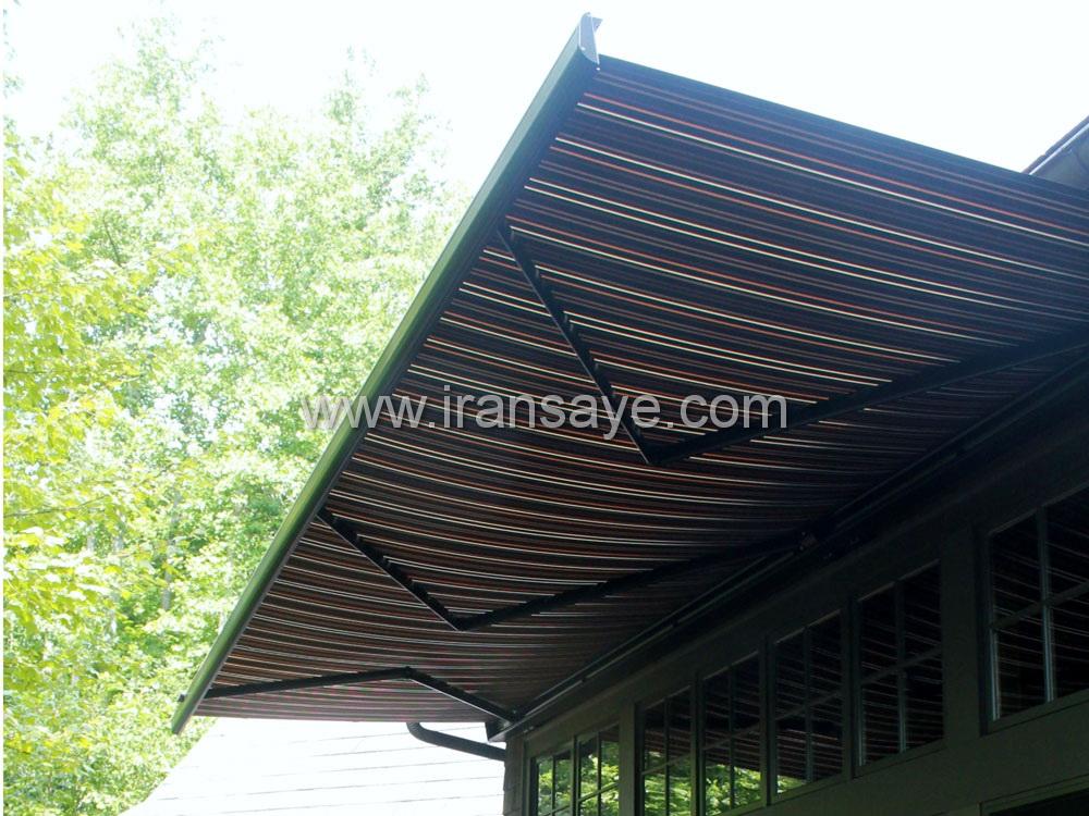 سایبان برقی آفتابگیر در تراس ویلا